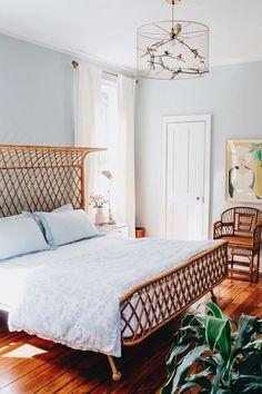 Hochwertig Ein Schlafzimmer Mit Einem Hauch Retro
