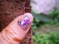 Decoracion de uñas mariposas - Butterfly nail art tutorial - YouTube