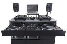 Dj Board, Turntable Setup, Dj Table, Tables, Hide Cables, Vinyl Record Collection, Dj Setup, Vinyl Collectors, Lp Storage