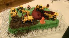 Boy's construction birthday cake