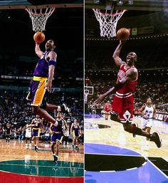 Kobe VS Jordan dunk
