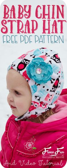 51 Things to Sew for Baby - Baby Hat With Chin Strap - Cool Gifts For Baby, Easy Things To Sew And Sell, Quick Things To Sew For Baby, Easy Baby Sewing Projects For Beginners, Baby Items To Sew And Sell http://diyjoy.com/sewing-projects-for-baby