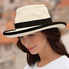6eb9e3da395 Buy the Tilley Hats TH8 Packable Sun Hat - Natural-Black at Village Hats.