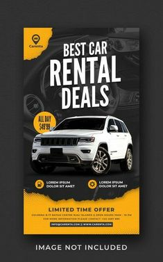 Graphic Design Flyer, Ad Design, Web Banner, Banner Template, Sales And Marketing, Social Media Marketing, Digital Marketing, Best Car Rental Deals, Cool Backgrounds Wallpapers
