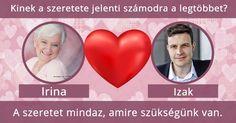 Kinek a szeretete jelenti számodra a legtöbbet?