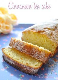 How to make cinnamon tea cake - Claire K Creations - Zimt Cinnamon Recipes, Tea Recipes, Sweet Recipes, Baking Recipes, Cake Recipes, Dessert Recipes, Holiday Recipes, Tea Cakes, Cupcake Cakes