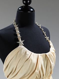 Vionnet silk and rhinestone evening dress, 1938 (top detail)