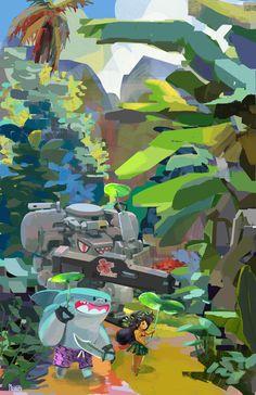 Camouflage!, Scott Kikuta on ArtStation at https://www.artstation.com/artwork/Gmbx1