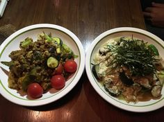 WaaGwaan 野菜&大豆ミートカレープレートと野菜&豆腐炒めプレート #vegan #vegetarian #vegansofjapan #veganosaka #osaka #ヴィーガン #ベジタリアン #動物性不使用 #菜食 #大阪 (WaaGwaan)