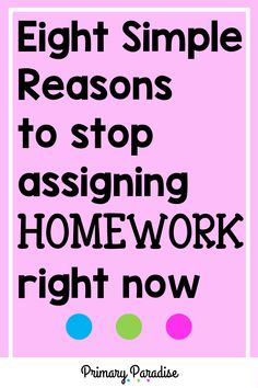 Homework: should you still be sending it home in your elementary classroom? Here are 8 reasons why you shouldn't waste your (or your students' time) with homework. Back To School Organization, Back To School Hacks, Teacher Organization, Teacher Hacks, School Stuff, School Ideas, Elementary Teacher, Upper Elementary, Elementary Schools