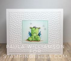 Stamping Bella JANUARY 2017 rubber stamp release-SET OF DRAGONS card by Paula Williamson