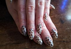 LCN gel nails with hand painted leopard decorations How To Do Nails, Gel Nails, Nail Art, Hand Painted, Decorations, Gel Nail, Dekoration, Nail Arts, Ornaments