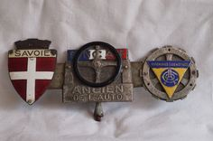 car badges automobile club de l'ouest FNCAF, federation nationale des clubs automobiles de france SAVOIE