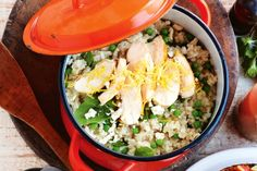 Chicken and lemon risotto. Try this deliciously zesty risotto for an easy weeknight meal.