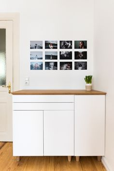 Oh I love this Bamboo Sideboard made from IKEA kitchen cabinets and a HILVER table top.