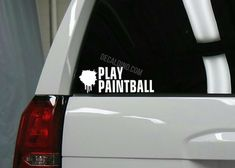 Play Paintball Decal
