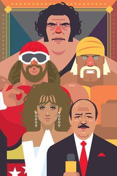 Wwf Poster, Poster On, Wrestling Posters, Wrestling Wwe, Creative Suite, Hulk Hogan, Golden Age, 1980s, Savage