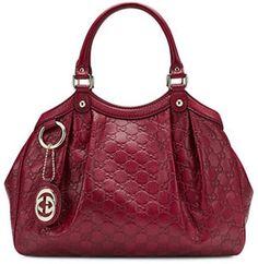 Gucci Sukey Medium Guccissima Leather Tote, Dark Red on shopstyle.com