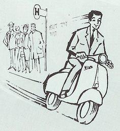 Vintage Vespa, Motor Scooters, Vespa Scooters, Vespa Accessories, Vespa Illustration, Lml Star, Piaggio Scooter, Classic Vespa, Italian Scooter