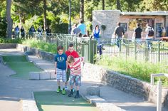 Come and play at the Lower Gardens mini golf course. This 18 hole mini course is at the heart of the Lower Gardens between Bournemouth Pier and the main town centre. The course includes 12 accessible holes which are suitable for people with reduced mobility or who use a wheelchair.