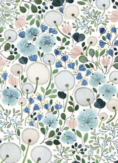 floral pattern design | by Anna Emilia Laitinen