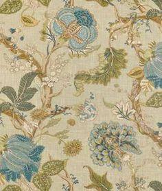 P. Kaufmann Florabunda Sea Glass Fabric - $23.85 | onlinefabricstore.net