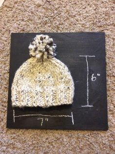 Knit childrens hat #madewithlove