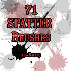 Paint Splatter 32 - Download  Photoshop brush http://www.123freebrushes.com/paint-splatter-32/ , Published in #GrungeSplatter. More Free Grunge & Splatter Brushes, http://www.123freebrushes.com/free-brushes/grunge-splatter/ | #123freebrushes