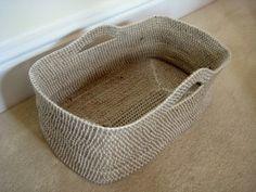 Crochet Rope Basket pattern