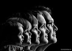 силуэт семья