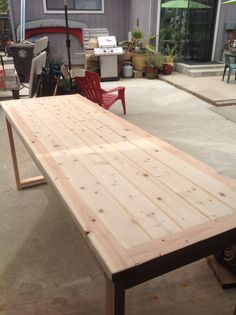Custom built buffet table to fit over our Dog crates.   #DestinyDeaton.com