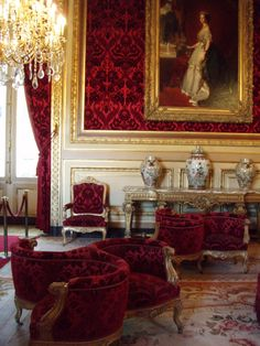 Napoleon's sitting room, from the Louvre