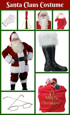 From his wig, beard, clothes, and hat to his boots, glasses, and gloves, here is everything you need for a Santa Claus costume for men!