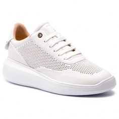 Sportcipő GEOX - D Rubidia A D84APA 00085 C1000 White - Sneakers - Félcipő - Női | ecipo.hu Furla, Clarks, Tommy Hilfiger, Converse, Spring Summer, White Sneakers, Shopping, Shoes, Fashion