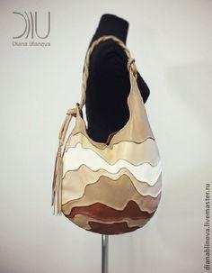 сумка кожаная УЛЕЙ . - коричневый,Красивая сумка,авторская сумка,необычная сумка