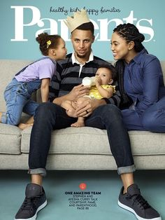 """The superstar, NBA MVP Steph Curry, """"chef"""" Ayesha Curry, and Ryan Curry are the June 2016 cover stars of PARENTS magazine. Family Matters, Family Goals, Family Values, Cute Family, Beautiful Family, Beautiful People, The Curry Family, Stephen Curry Family, Baby Monat Für Monat"""