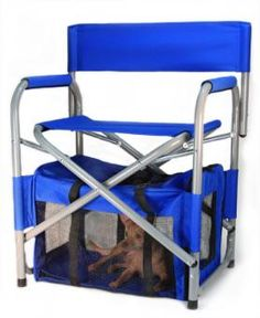 Folding chair with a dog crate built in! Pet 1, Pet Dogs, I Love Dogs, Puppy Love, Spoiled Kids, Big Chair, Camping Chairs, Baby Puppies, Dog Crate