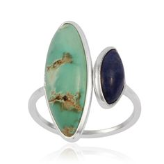 Turqoise and Lapis Lazuli sterling silver ring