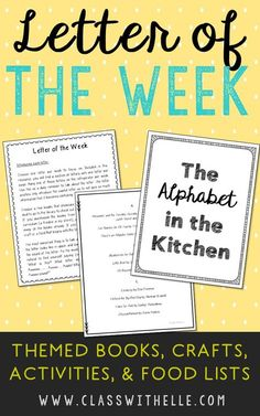 Letter of the Week Activities, Crafts, Book and Food List. There is no need to overwhelm your student with endless worksheets either. The book list and guide spells out very clearly all the materials you need, with no fluff, to get you through an entire half-year letter study.
