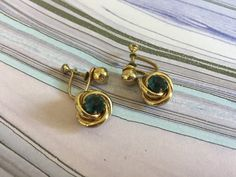 Dangle Earrings with Faceted Round Aqua Colored Beads Gold | Etsy Screw Back Earrings, Clip On Earrings, Dangle Earrings, Vintage Earrings, Vintage Jewelry, Photographing Jewelry, Starfish Earrings, Aqua Color, Metal Necklaces