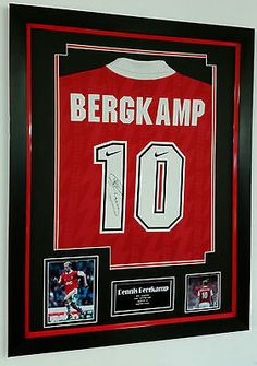 509bf7f4a    rare dennis  bergkamp of arsenal signed shirt 1st season  autograph  display
