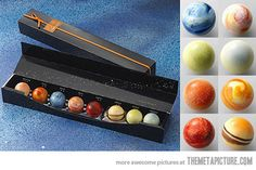 Planetary Chocolates, cool idea for the space cadet in all of us