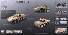 Концепт-дизайн колесной боевой машины пехоты IFV 'Jericho'.