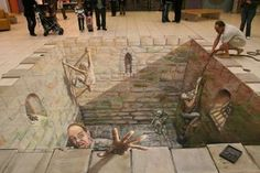 3D Floor Murals: 10 Incredible Optical Illusion Designs to Floor Your Friends