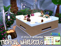 Tropical Whirlpools by Waterwoman at Akisima via Sims 4 Updates