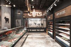 Showroom Interior Design, Retail Interior, Shop Front Design, Store Design, Meat Store, Convinience Store, Butcher Store, Carnicerias Ideas, Chicken Shop