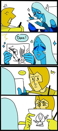 Why blue pearl loves to draw