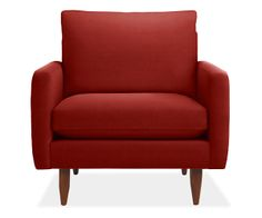 Our Jasper custom chair is a mid century arm chair with modern chair style. Complement your living room furniture with this modern arm chair. Living Room Accents, Accent Chairs For Living Room, Living Room Modern, Dining Room, Living Spaces, Affordable Furniture, New Furniture, Living Room Furniture, Furniture Stores