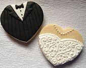 SweetTweets - Bride and Groom Wedding Cookies -