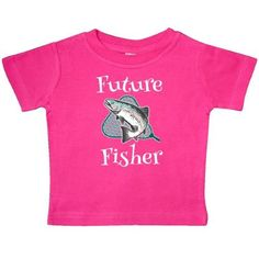 Inktastic Future Fisher Childs Fishing Baby T-Shirt Fisherman Fish Trout Kids Cute Boys Girls Sports Hobbies Hobby T-shirt Infant Tees Shower Gift Clothing Apparel Hws, Infant Unisex, Size: 24 Months, Pink